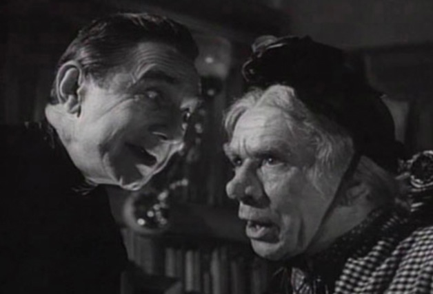 The Strange Case of Bela Lugosi acting with UK music hall and film star Arthur Lucan in Old Mother Riley Meets The Vampire.