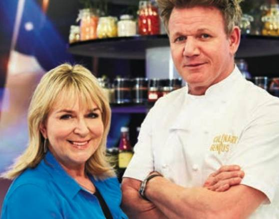 Culinary Genius Fern Britton with Gordon Ramsay