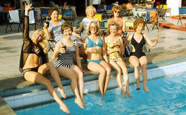 The Coro girls sample the delights of a 1970's european holiday.