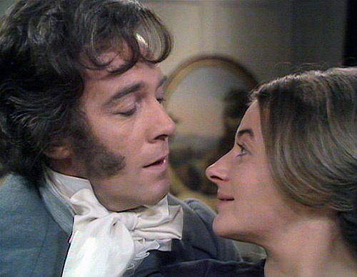 Michael Jayston as Rochester, Sorcha Cusack as Jane Eyre.