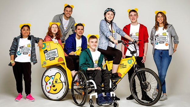 The One Show's Rickshaw Challenge For BBC Children In Need