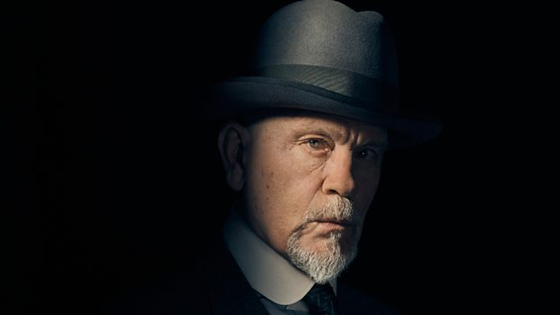 John Malkovich is Hercule Poirot in The ABC Murders.