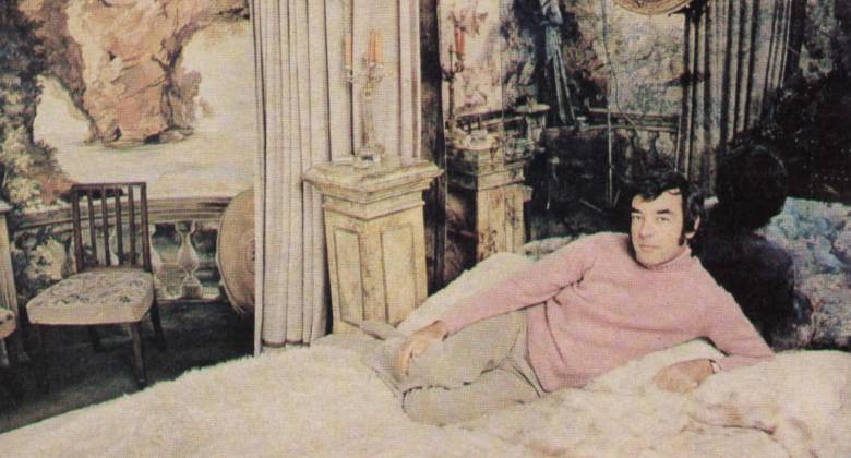 Star Richard Johnson relaxes at home.
