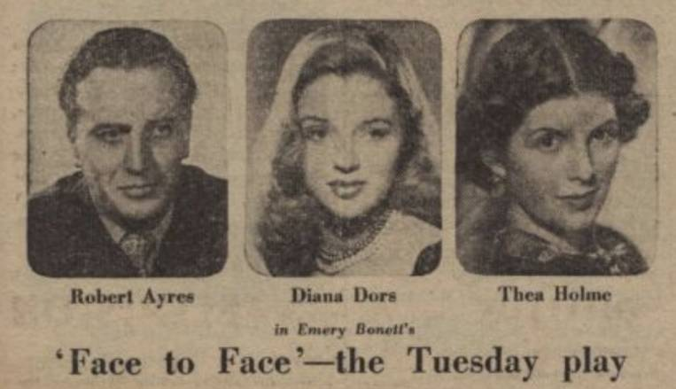 Face to Face BBC 1951 Diana Dors